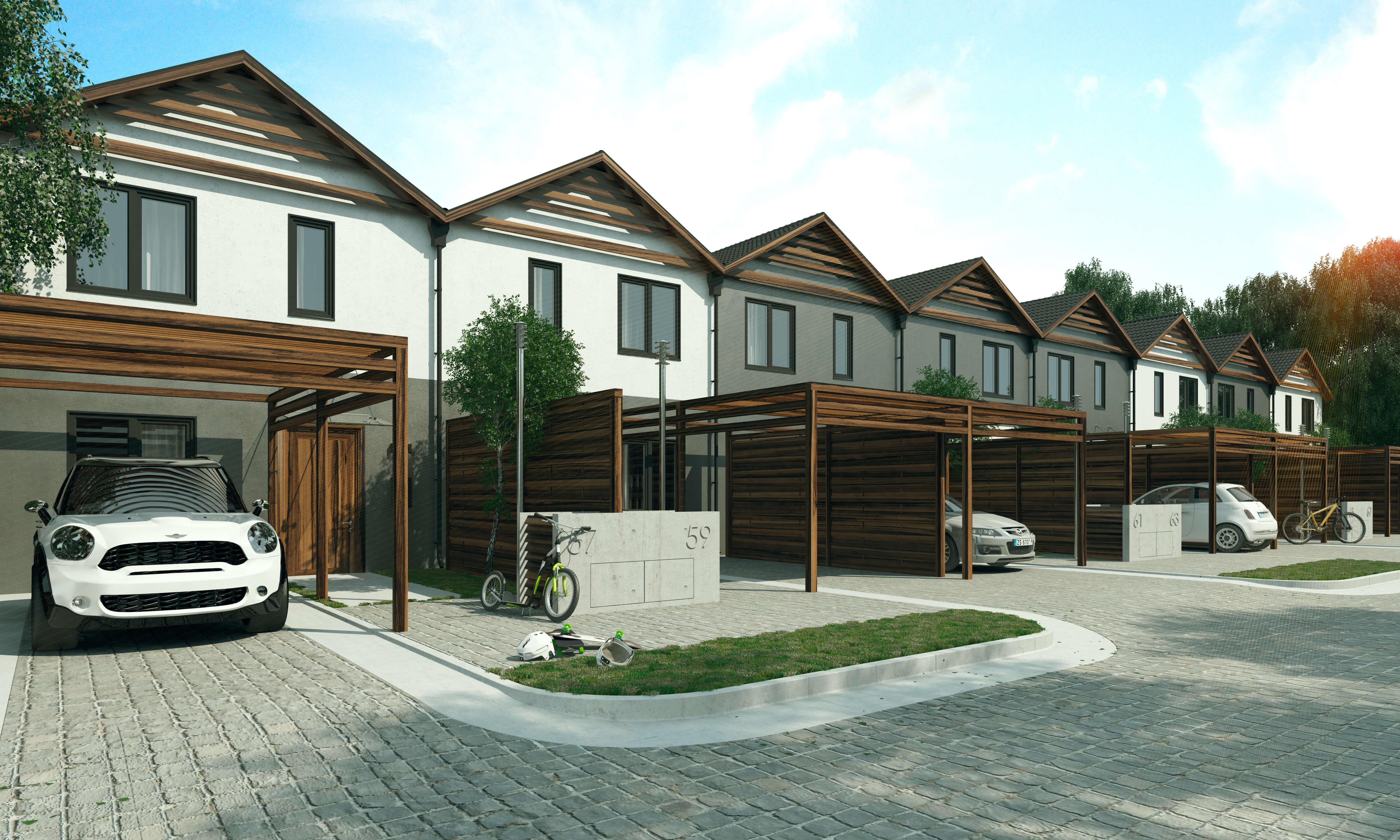 Wizualizacja - Komorowice III - domki szeregowe (2)')